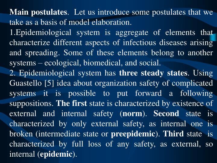 Main postulates