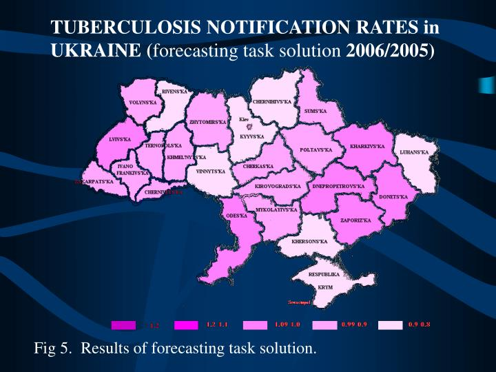 TUBERCULOSIS NOTIFICATION RATES in  UKRAINE (
