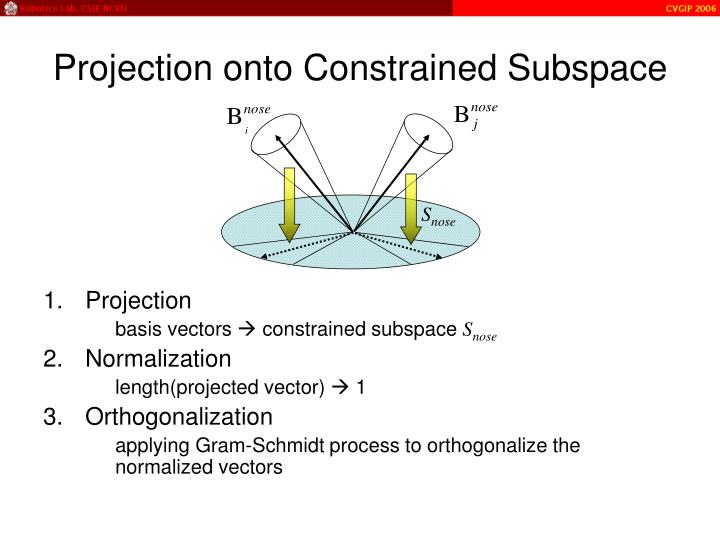 Projection onto Constrained Subspace