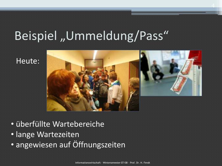 "Beispiel ""Ummeldung/Pass"""