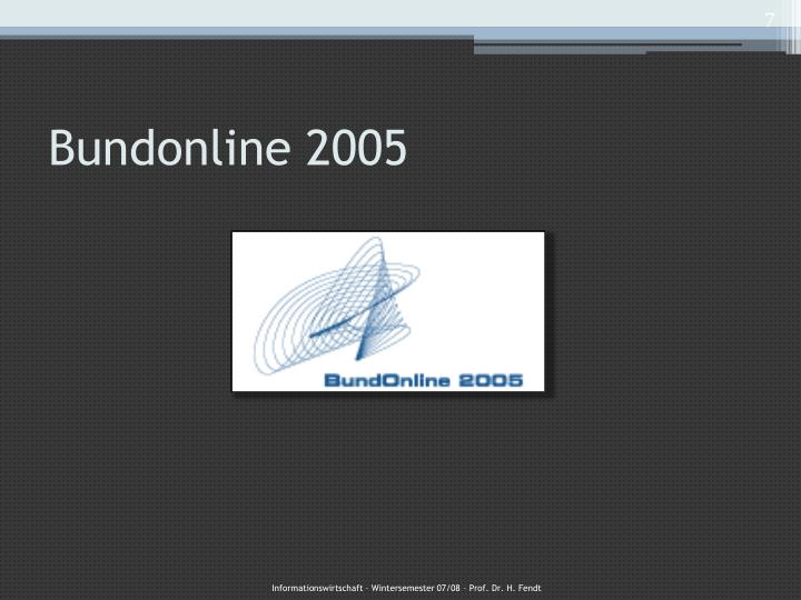 Bundonline 2005