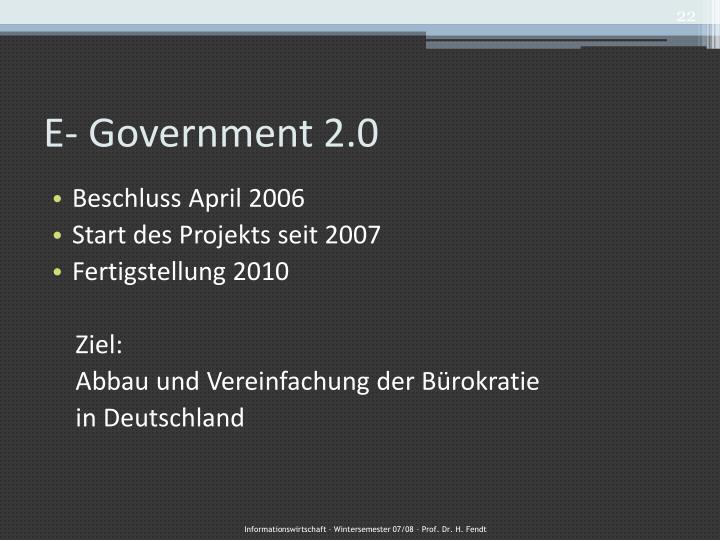 E- Government 2.0