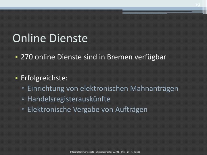 Online Dienste