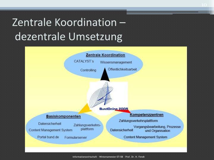 Zentrale Koordination