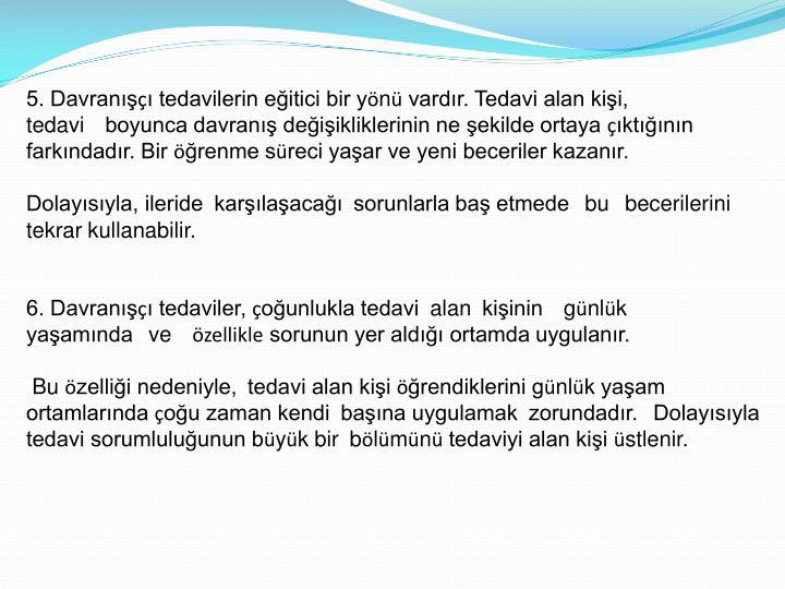 5. Davranış
