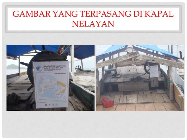 Gambar yang terpasang di kapal nelayan