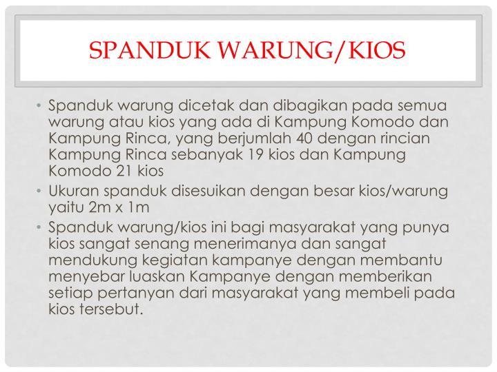 SPANDUK WARUNG/KIOS