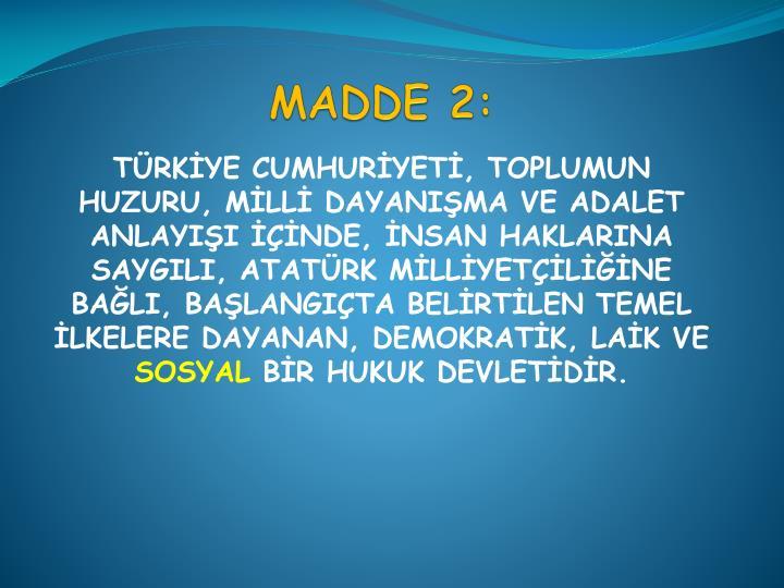 MADDE 2: