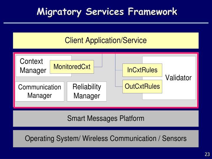 Migratory Services Framework