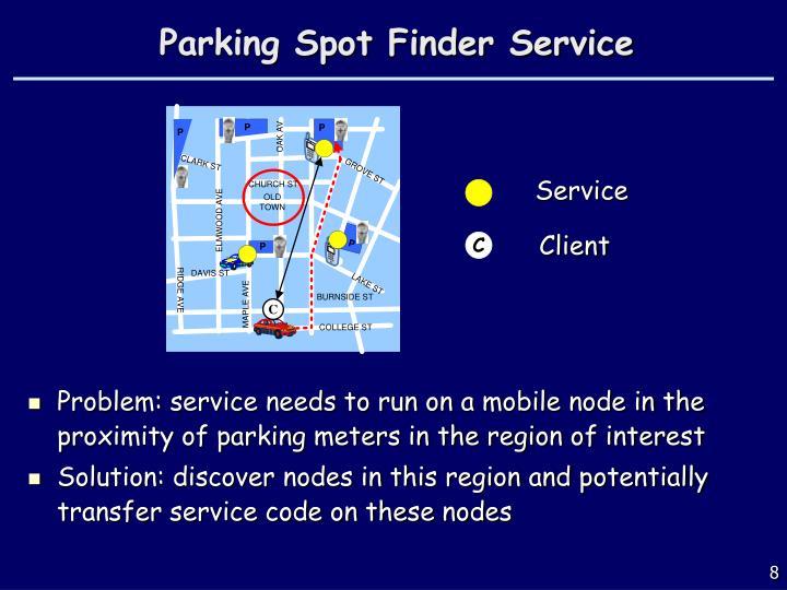 Parking Spot Finder Service