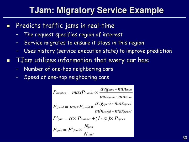 TJam: Migratory Service Example