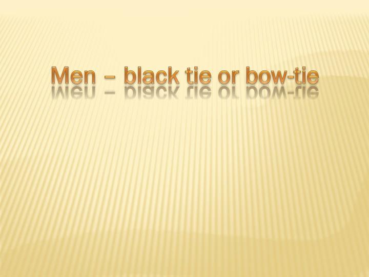 Men –