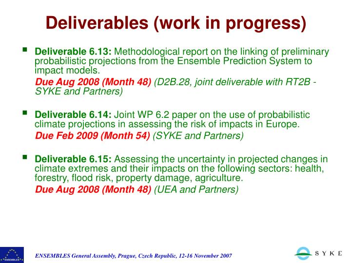 Deliverable 6.13: