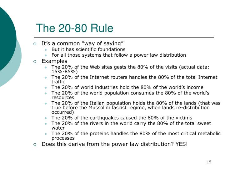 The 20-80 Rule