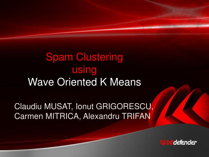 Spam Clustering