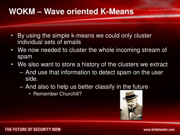 WOKM – Wave oriented K-Means