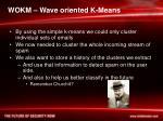 wokm wave oriented k means