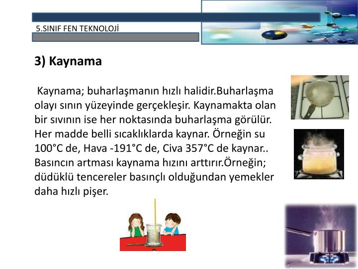 3) Kaynama