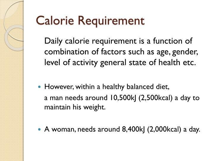 Calorie Requirement