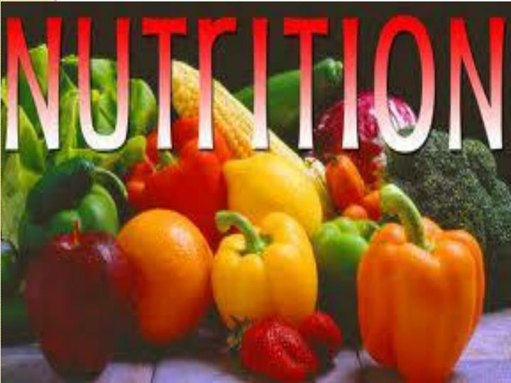 Nutrition and its relation to body functions premed1 presentation by