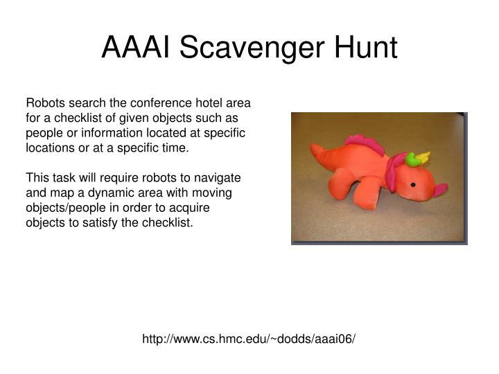 AAAI Scavenger Hunt