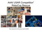 aaai usar competition robocup rescue