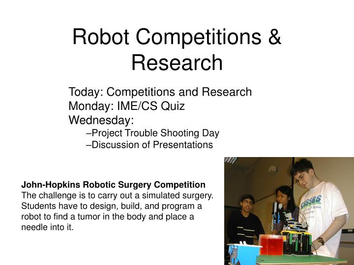 Robot competitions research