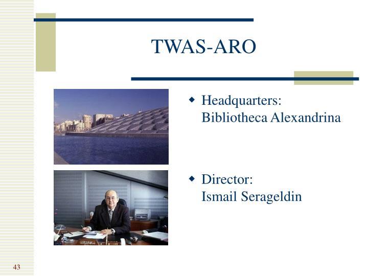 TWAS-ARO