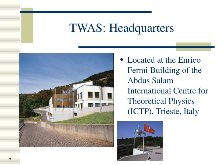 TWAS: Headquarters