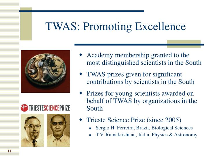 TWAS: Promoting Excellence