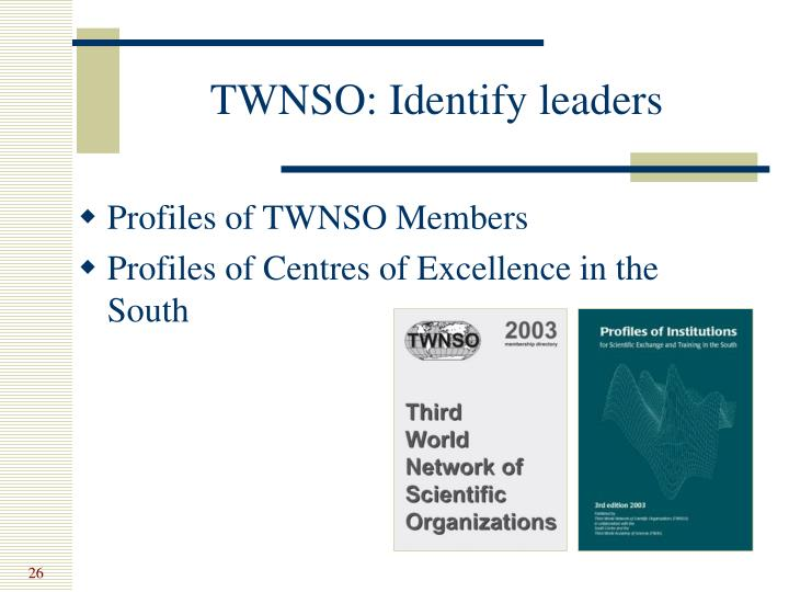 TWNSO: Identify leaders