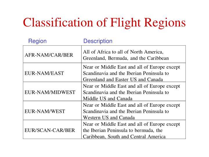 Classification of Flight Regions