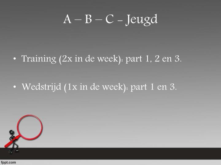 A – B – C - Jeugd