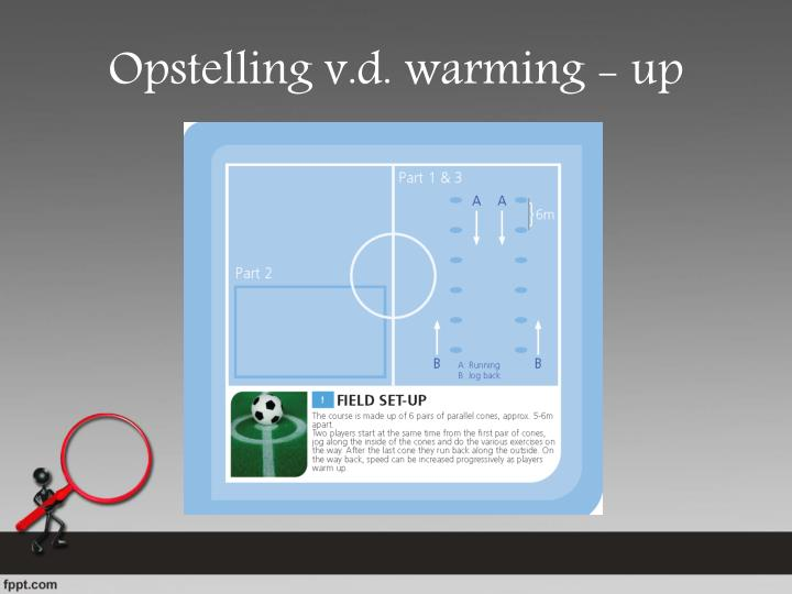 Opstelling v.d. warming - up