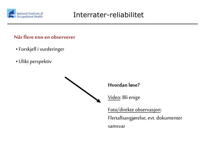 Interrater-reliabilitet