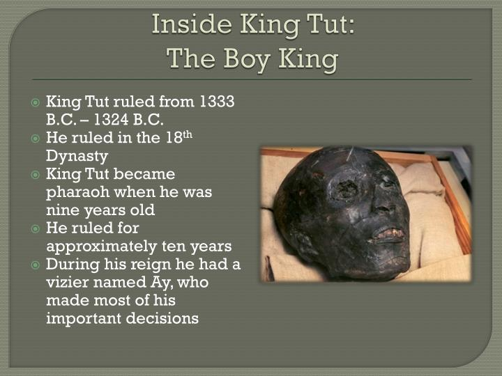 Inside king tut the boy king