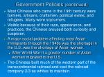government policies continued1