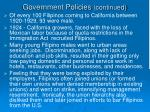 government policies continued4
