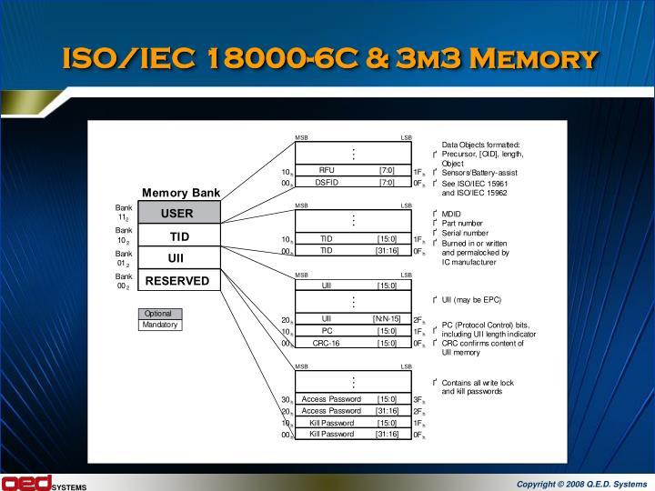 ISO/IEC 18000-6C & 3m3 Memory