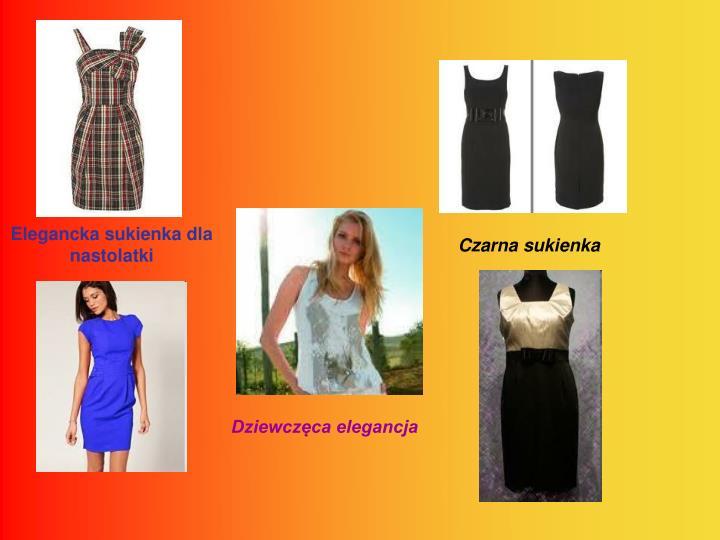 Elegancka sukienka dla nastolatki