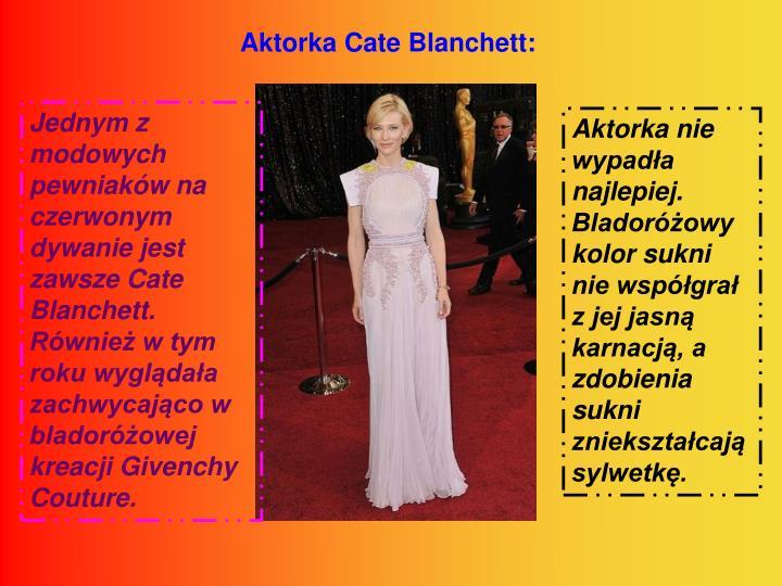 Aktorka Cate Blanchett: