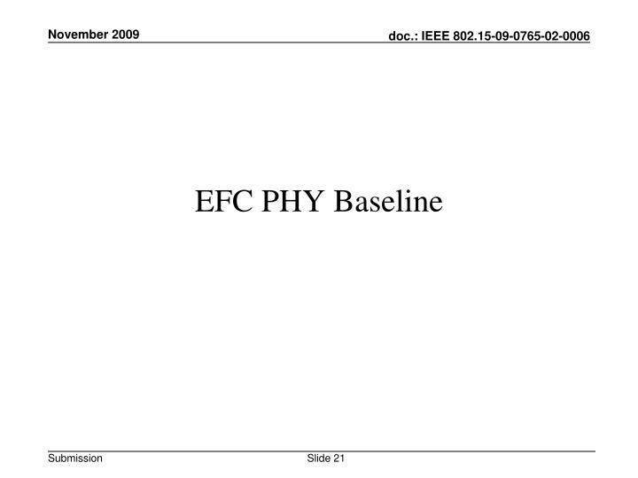 EFC PHY Baseline