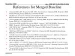 references for merged baseline