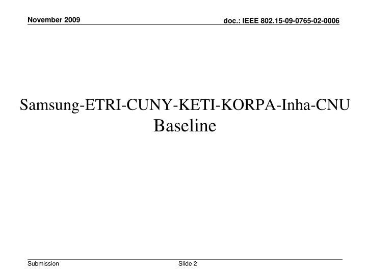 Samsung-ETRI-CUNY-KETI-KORPA-Inha-CNU