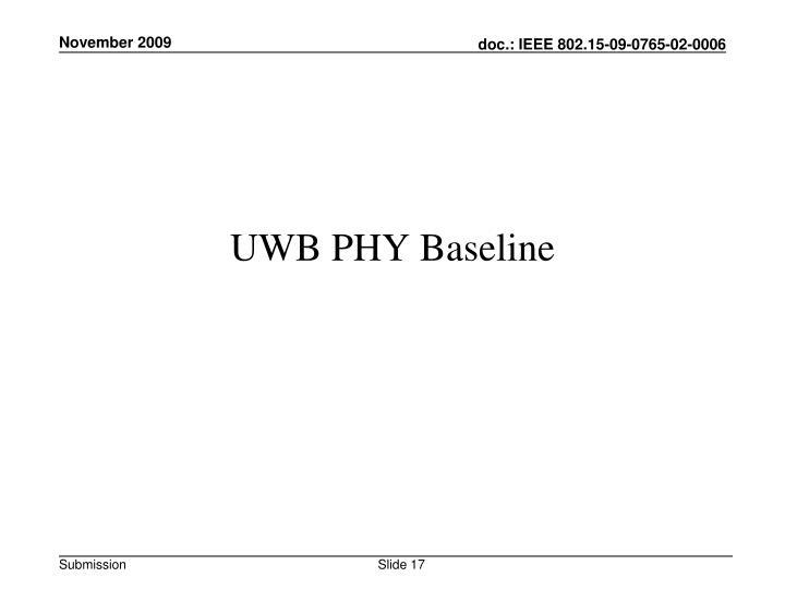UWB PHY Baseline