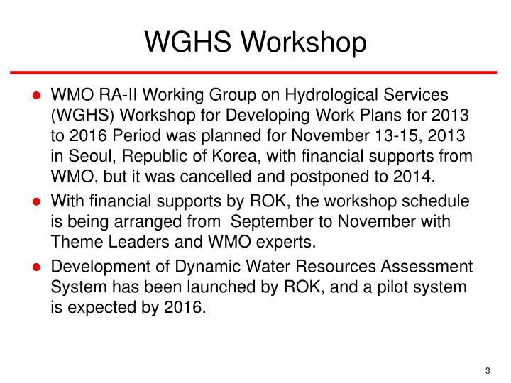 WGHS Workshop
