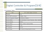 digital controller program 3 4