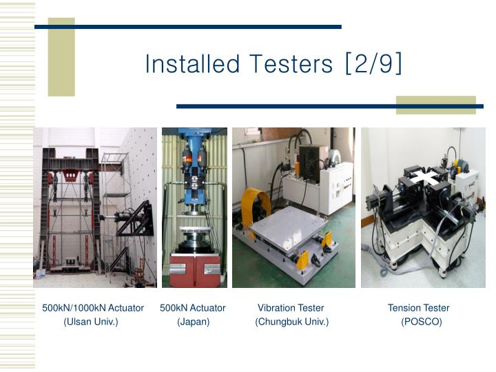 Installed Testers [2/9]