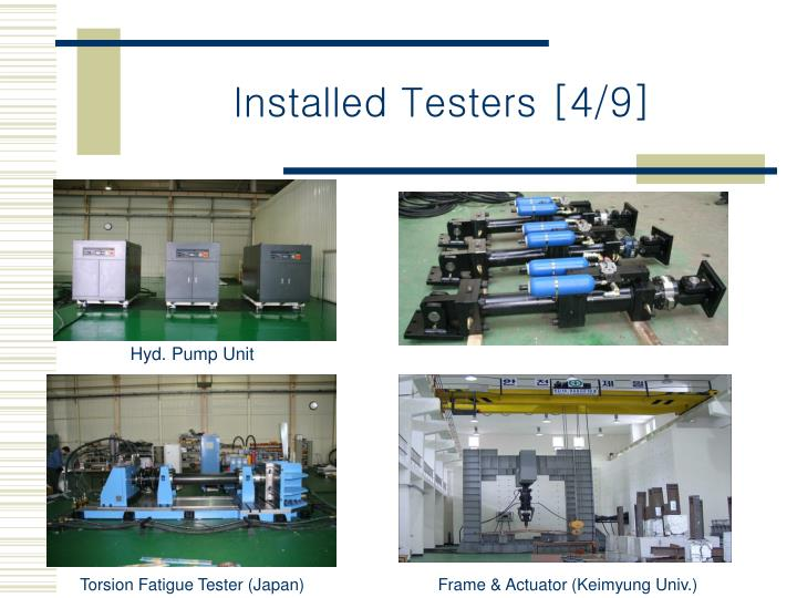 Installed Testers [4/9]