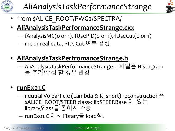 AliAnalysisTaskPerformanceStrange